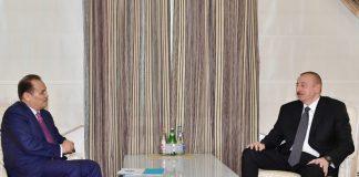 Azərbaycan Respublikasının Prezidenti İlham Əliyev və Türkdilli Dövlətlərin Əməkdaşlıq Şurasının Baş katibi Bağdad Amreyev