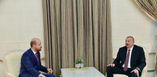 Azərbaycan Respublikasının Prezidenti İlham Əliyev və Dünya Etnoidman Konfederasiyasının sədri Bilal Ərdoğan