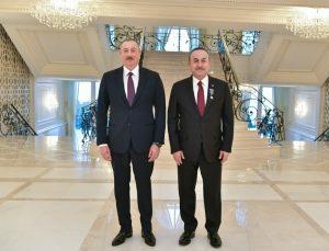 Azərbaycan Prezidenti İlham Əliyev və Türkiyə Respublikasının Xarici İşlər naziri Mövlud Çavuşoğlu