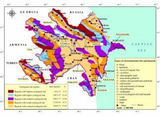 Azərbaycanın ekoloji risklər xəritəsi